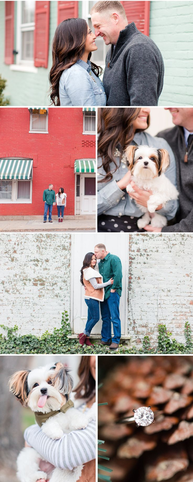 A Downtown Shepherdstown Engagement Shoot with a Puppy | by Katelyn James Photography