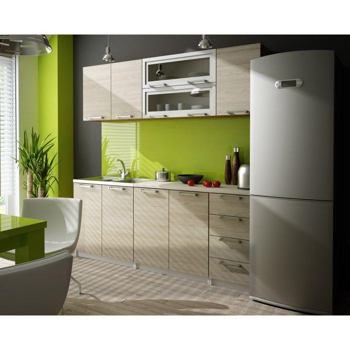 Kuchyne - ucelené bloky : Kuchynská linka, dub, IRYS ZS 2,0 m