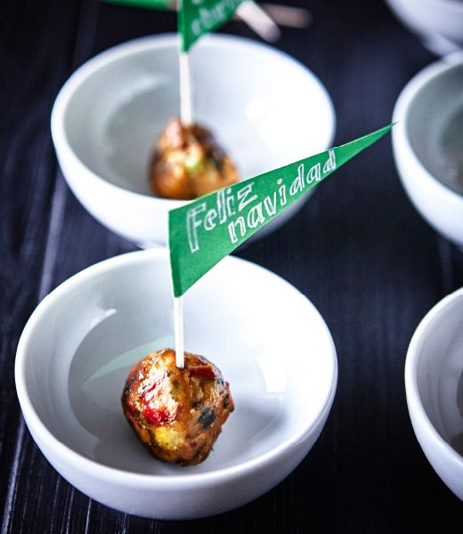 LOOKING FOR A SUPER EASY APPETIZER? Might we suggest our very own vegetable balls? Ok, so maybe we're biased, but we think they're pretty perfect for a party (especially when you add a little flair, like these mini pennants).