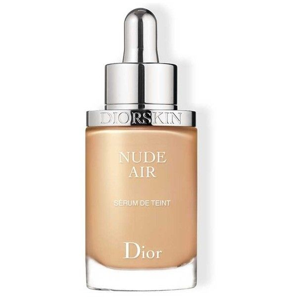 Dior Beauty Diorskin Nude Air Healthy Glow Serum Foundation ($53) ❤ liked on Polyvore featuring beauty products, makeup, face makeup, foundation, beauty, foundation & primer, natural, christian dior foundation and christian dior