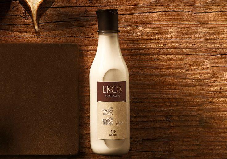 Leite Hidratante Ekos Castanha - 200ml... De textura cremosa e aveludada, deixa a sua pele macia e protegida contra as agressões externas do dia-a-dia. - Shop EKOS