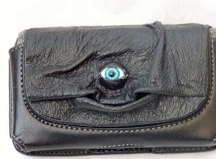 Black Leather Cell Phone Case Goth Witch Wiccan Pagan Goth LARP by pippenwycks on Etsy https://www.etsy.com/listing/152138895/black-leather-cell-phone-case-goth-witch