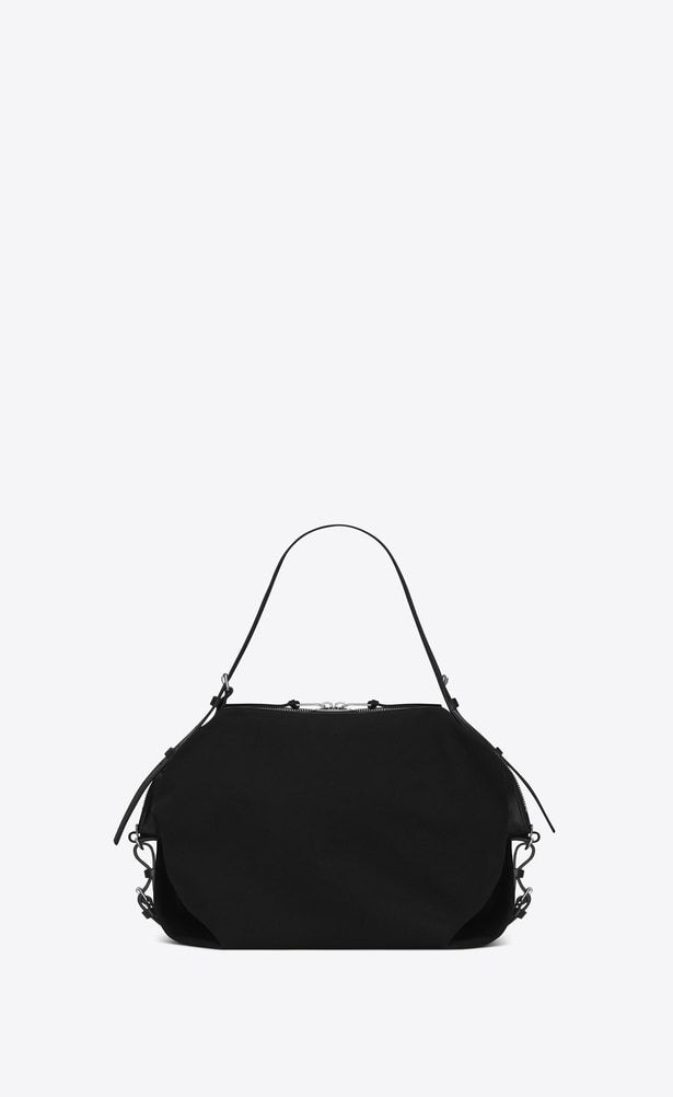 d6927dd671c4 SAINT LAURENT ID bags Man Medium ID Convertible Bag in Black canvas a V4