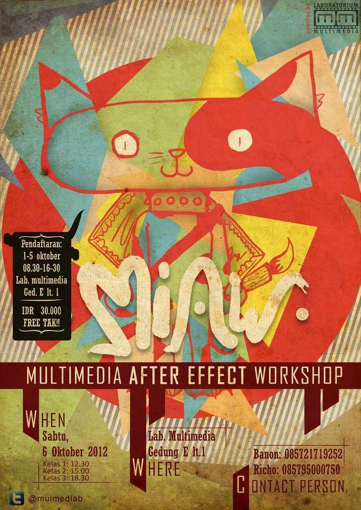 MIAW - Multimedia After Effect Workshop Poster colabbs with Gerry