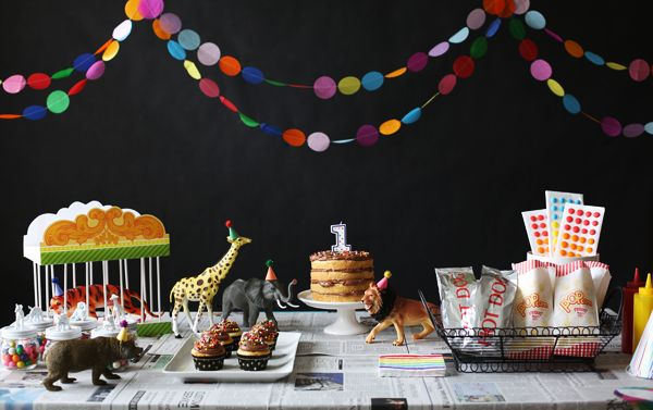 Boy circus-themed birthday party