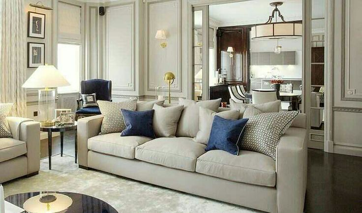 Soft Glam Wohnzimmer Couch Coffee Table in beige taupe und braun - wohnzimmer bilder braun beige