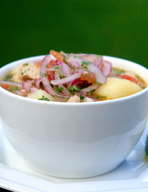 Encebollado- how delicious does this look? It's one of Ecuador's national dishes!