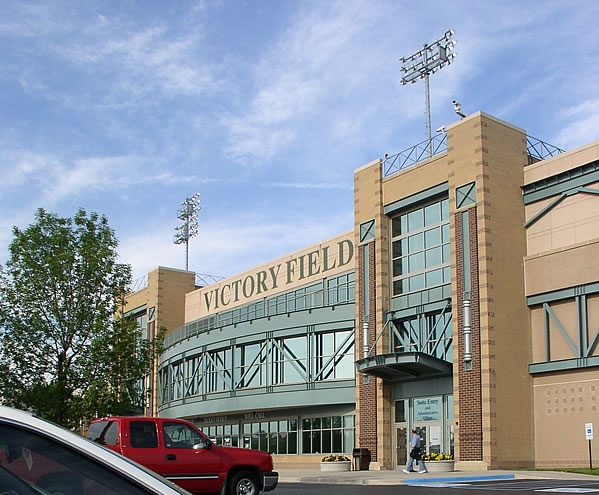 Victory Field, home of the Indianapolis Indians baseball team, White River State Park, in downtown Indianapolis, Indiana.