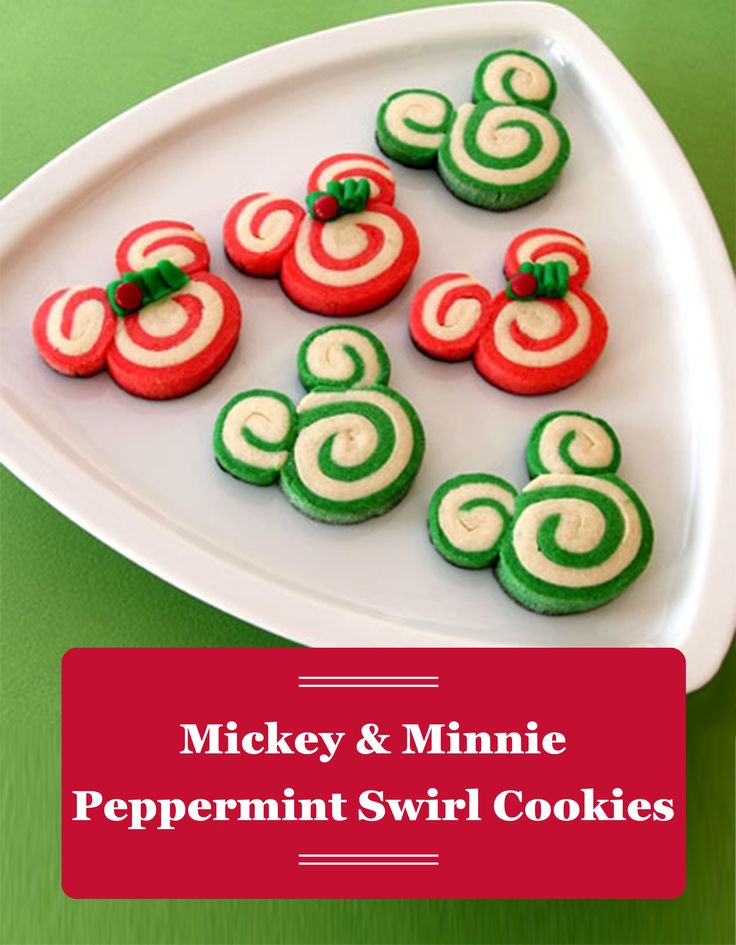 Mickey and Minnie sure taste great in minty cookie form! This red and green Christmas cookie recipe is the perfect way to add a little Disney flair to your holiday festivities.