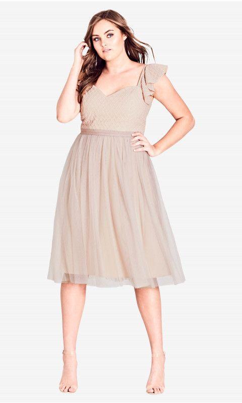 Tender Kiss Dress - Nude | Caralyn Mirand | Dresses, Plus size ...