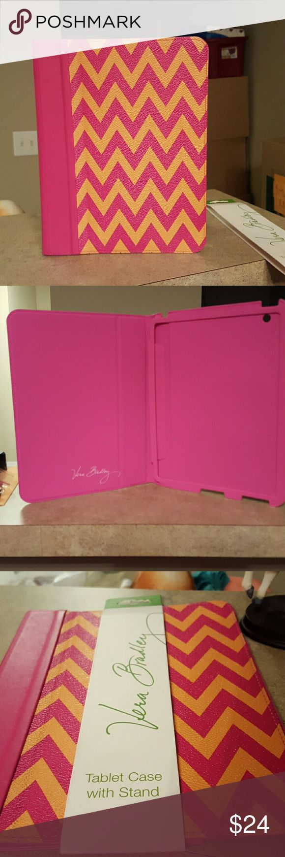 """Vera Bradley Tablet Case w/Stand Never been used.  Vera Bradley Ziggy Zags pattern.  Has original VB but no price tag. Dimensions 7 3/4"""" x 10"""".  Fits iPad2 and similar size tablets. Vera Bradley Other"""
