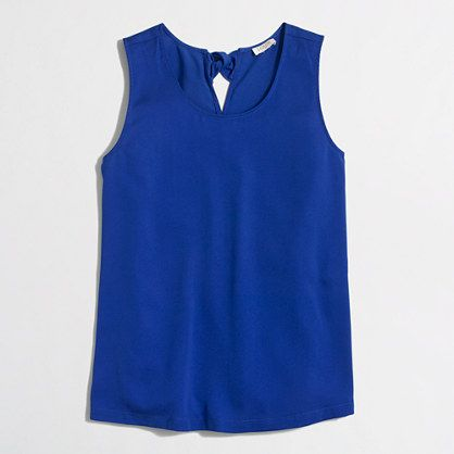 J. Crew Factory bow-back top