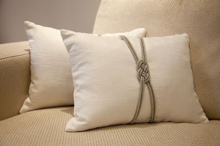 Off white cushions with rope detail