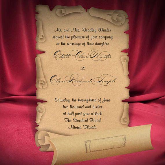 28 Best Medieval Wedding Invitations Images On Pinterest: Best 25+ Scroll Wedding Invitations Ideas On Pinterest
