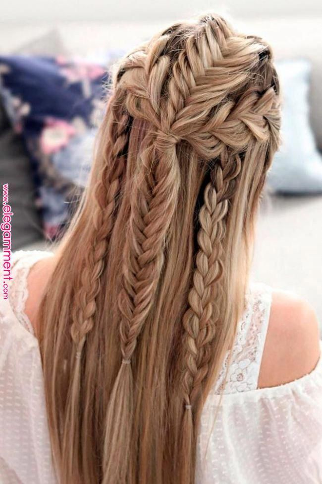 30 Chic Hairstyles For Long Straight Hair Are Hairstyles For Long Straight Hair Is What You Are Searchin Long Straight Hair Braided Hairstyles Viking Hair