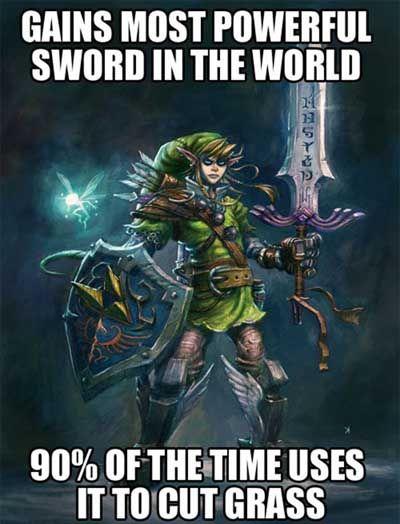 video game logic zelda grass