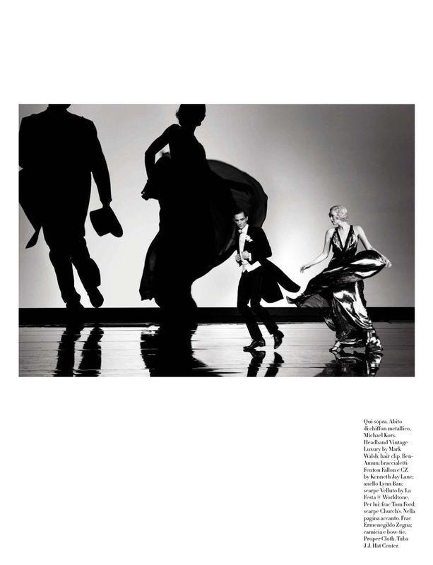 Karen Elson & Christopher Niquet by Steven Meisel for Vogue Italia April 2015 | UniLi - Unique Lifestyle