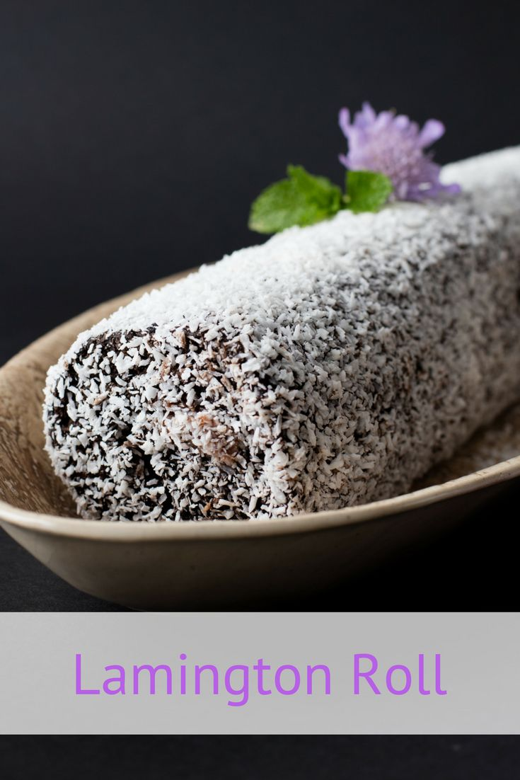 Lamington Roll recipe. This light and airy sponge roll, dressed up as an Australian Lamington, is a fun dessert or teatime treat.
