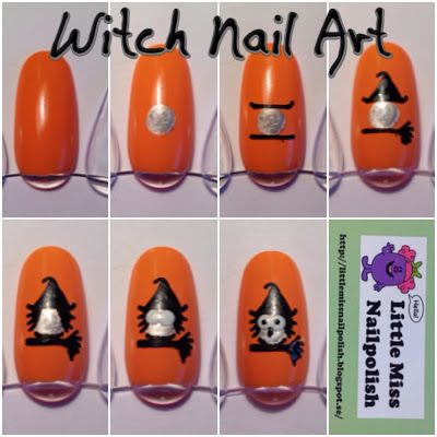 Little Miss Nailpolish: Witch Nail Art Tutorial (Super cute!)