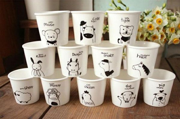 Aliexpress.com : Buy free shipping lovely animal Chinese Zodiac (dog) cups Ceramic Eco Cup porcelain Mug Coffee Cup milk cup from Reliable cup stack suppliers on Cute kids store