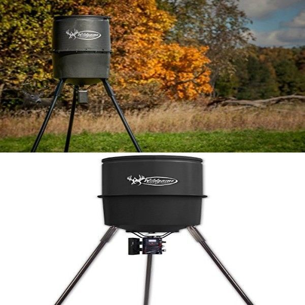 WILD GAME INNOVATIONS 225 lb 30 Gallon Hunting Deer Game Feeder w Digital Timer #WildGameInnovations
