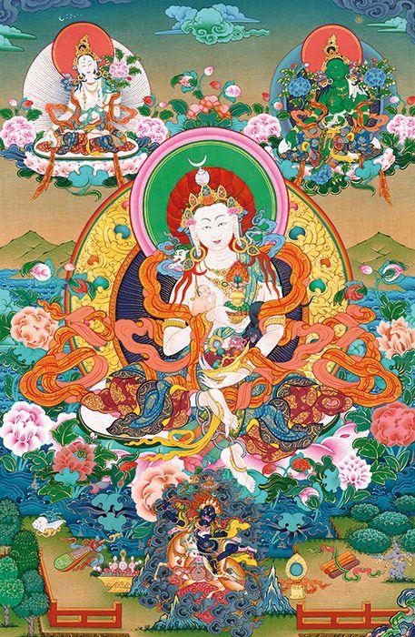 Protectress of kids Burji Lhamo (tib. sosor bar ma, sanskr. Hariti)