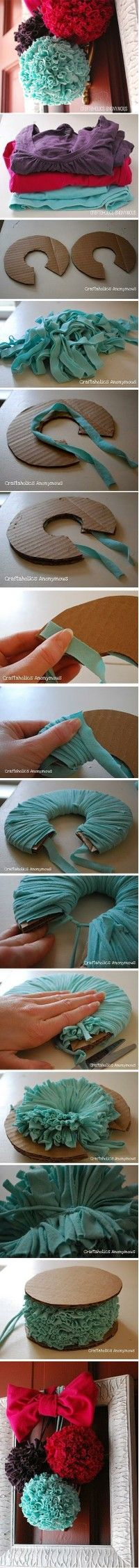 "DIY- cloths ball!   This is to cute, fun and easy to make! You could also used old ""hankies"" instead of one fabric!!"