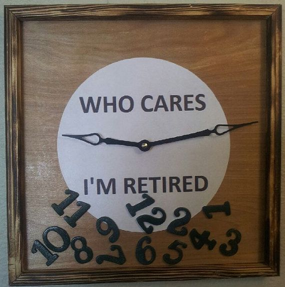 Hey, I found this really awesome Etsy listing at https://www.etsy.com/listing/172989430/retirement-clock