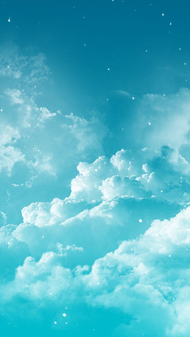 Blue turquoise aqua clouds sky iphone phone wallpaper background lock screen