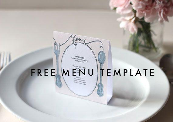 Free Downloadable Diy Wedding Menus | Tea Parties, Wedding And Blog