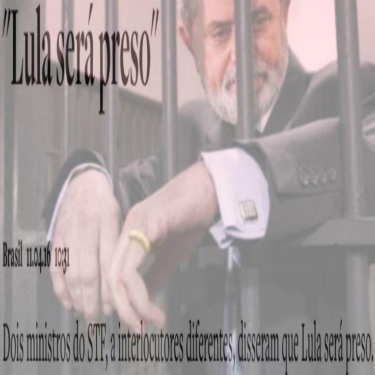 """Lula será Preso [artigo do site """"O Antagonista""""] ➤ http://www.oantagonista.com/posts/lula-sera-preso-9c747a19-3449-4588-8a7a-e616387ebadf ②⓪①⑥ ⓪④ ①① #ILoveLula"""
