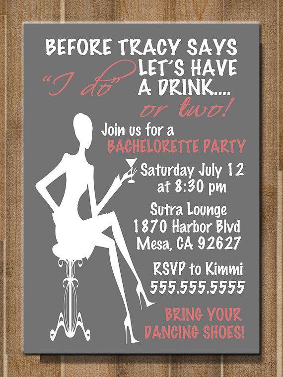 printable bachelorette party    bridal shower invitation