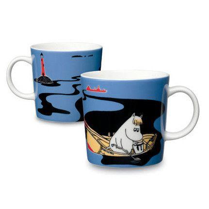Håll Sverige Rent blue Moomin mug by Arabia - The Official Moomin Shop