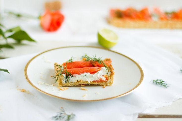 haseimglueck.de Rezept, Lachs-Tarte mit Frischkäse & Meerrettich 6