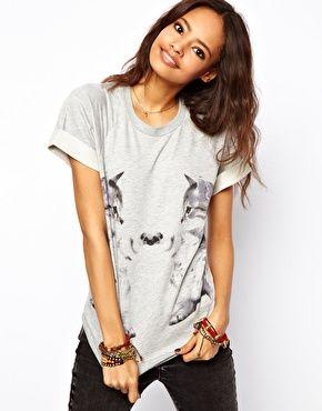 Enlarge ASOS Sweatshirt with Mirror Kitten Print