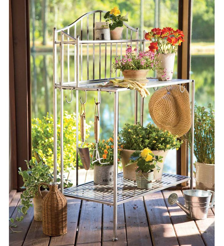3 tier metal garden shelf sideboard is perfect for serving for Garden supply burlington vermont