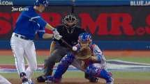 TEX@TOR: Johnson opens up scoring with RBI double
