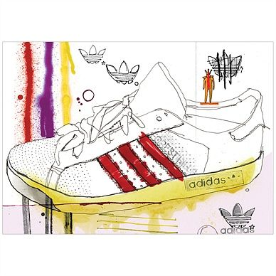 Adidas forest hills campaign illustration by Ben Tallon
