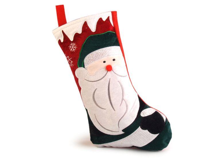 Mikulášská punčocha s vánočním motivem je v typicky vánočních barvách. Je dostatečně velká, aby se do ní vešly veškeré dobroty pro vaše ratolesti. Zadní strana boty je bez dekoru. Díky poutku ji můžete komkoliv zavěsit.
