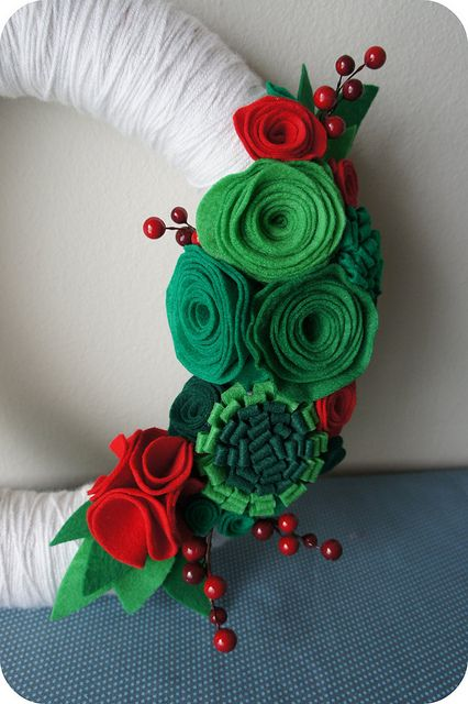 detail*  Christmas Felt Wreath | Flickr - Photo Sharing!