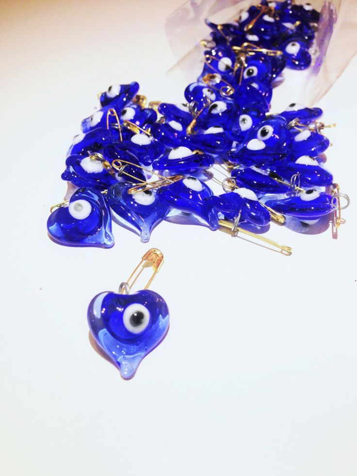 A personal favourite from my Etsy shop https://www.etsy.com/listing/289905377/glass-wedding-favors-evil-eye-50pcs