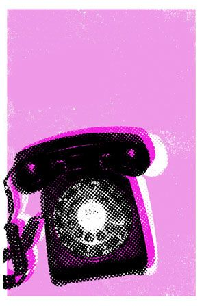 Old School Phone Poster via The Poster List