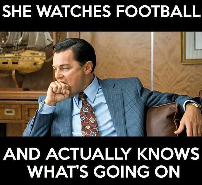 That's right! I know the players and the plays!                                                                                                                                                     More
