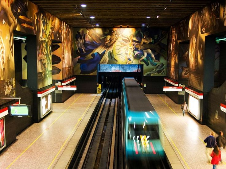 Universidad de Chile Subway Station @ Condé Nast Traveler's 15 World Subway Stations with Incredible Art