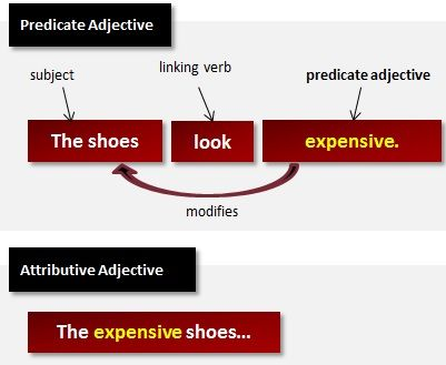What Are Predicate Adjectives?  - Has a linking verb!