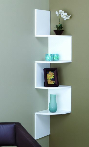 Floating corner shelving unit | FindaBuy