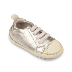 Easy Tread (Silver/White) Baby Shoe - A nice unisex option