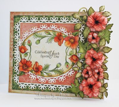 Designs by Marisa, Card with flowers