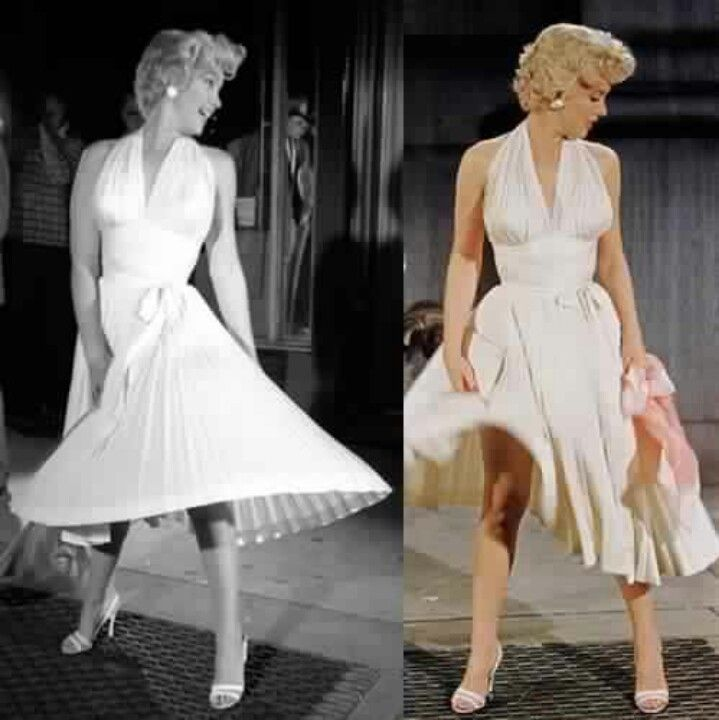 Marilyn monroe white dress earrings for guys