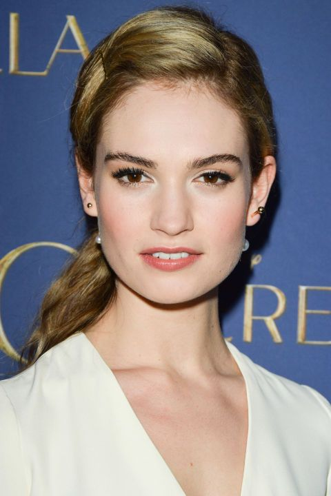 Lily James shows us how to grow out your bangs in style.